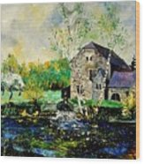 Old Mill In April Wood Print