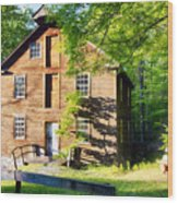 Old Mill In Warm Summer Afternoon Light Wood Print