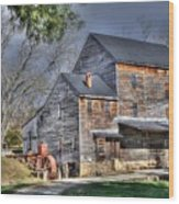 Old Mill Nelson County Virginia Wood Print