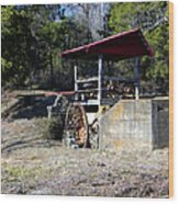 Old Mill Of Guilford Pumphouse Wood Print