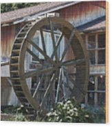 Old Mill Store Entry To Caverns Wood Print