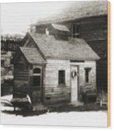 Old Miner Wood Print