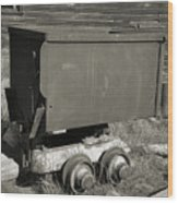 Old Mining Cart Wood Print