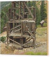 Old Mining Equipment Wood Print