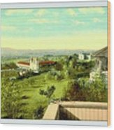 Old Mission And St. Anthony's College, Santa Barbara Ca, 1910 Wood Print