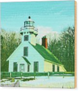 Old Mission Point Lighthouse Wood Print