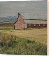 Old Montana Ranch Wood Print
