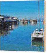 Old Monterey Wharf Wood Print