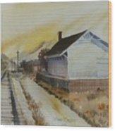 Old Morgan Train Depot Wood Print