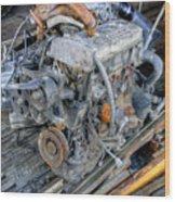 Old Motor Wood Print