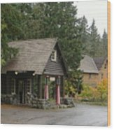 Old Mountain Gas Station Wood Print