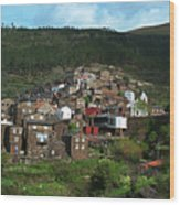Old Moutain Village In Portugal Wood Print