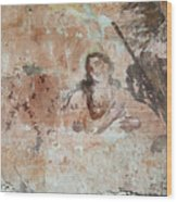 Old Mural Painting In The Ruins Of The Church Wood Print
