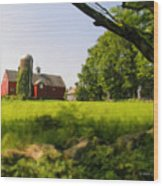 Old New England Farm Wood Print