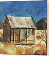 Old New Mexico Cabin Wood Print