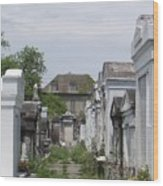 Old New Orleans Cemetery - The Big House  Wood Print