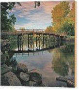 Old North Bridge Wood Print by Rick Berk