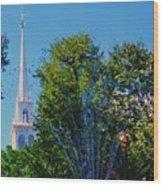 Old North Church, Boston # 3 Wood Print
