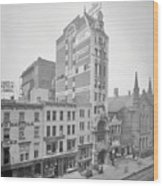 Old Nyc New Amsterdam Theater Photograph - 1905 Wood Print