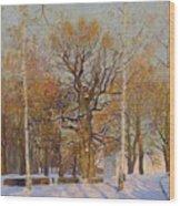 Old Oak-tree In Kolomenskoye Wood Print