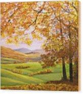 Old Oak Tree On A High Hill II Wood Print
