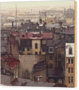 Old Old City Wood Print