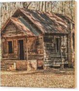 Old One Room School House Wood Print