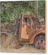 Old Orange Wood Print