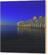 Old Orchard Beach Pier At Sunrise Wood Print