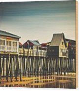 Old Orchard Beach Pier Wood Print