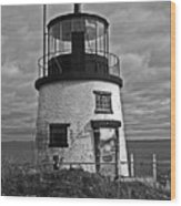 Old Owls Head Lighthouse Wood Print