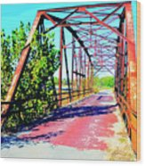 Old Ozark Trail Bridge Wood Print