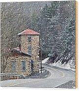 Old Paint Mill Winter Time Wood Print by Stephanie Calhoun