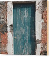 Old Painted Door Wood Print