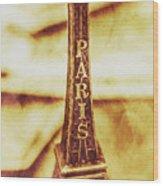 Old Paris Decor Wood Print