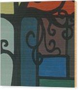 Old Pattern Wood Print