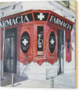 Old Pharmacy Wood Print by Tomas Castano