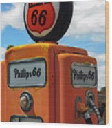 Old Phillips 66 Gas Pump Wood Print