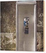 Old Phonebooth Wood Print by Carlos Caetano