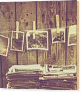 Old Photo Archive Wood Print