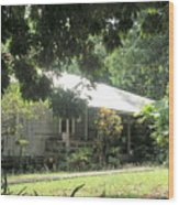Old Plantation House Wood Print