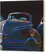 Old Plymouth Old Cars Wood Print