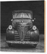 Old Plymouth Truck Square Wood Print