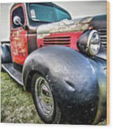 Old Plymouth Truck Wood Print