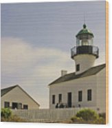 Old Point Loma Lighthouse - Cabrillo National Monument San Diego Ca Wood Print