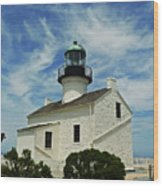 Old Point Loma Lighthouse Wood Print