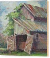 Old Pole Barn Wood Print