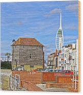 Old Portsmouth Flood Gates Wood Print