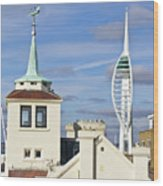 Old Portsmouth's Towers Wood Print
