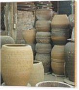 Old Pottery Workshop Wood Print